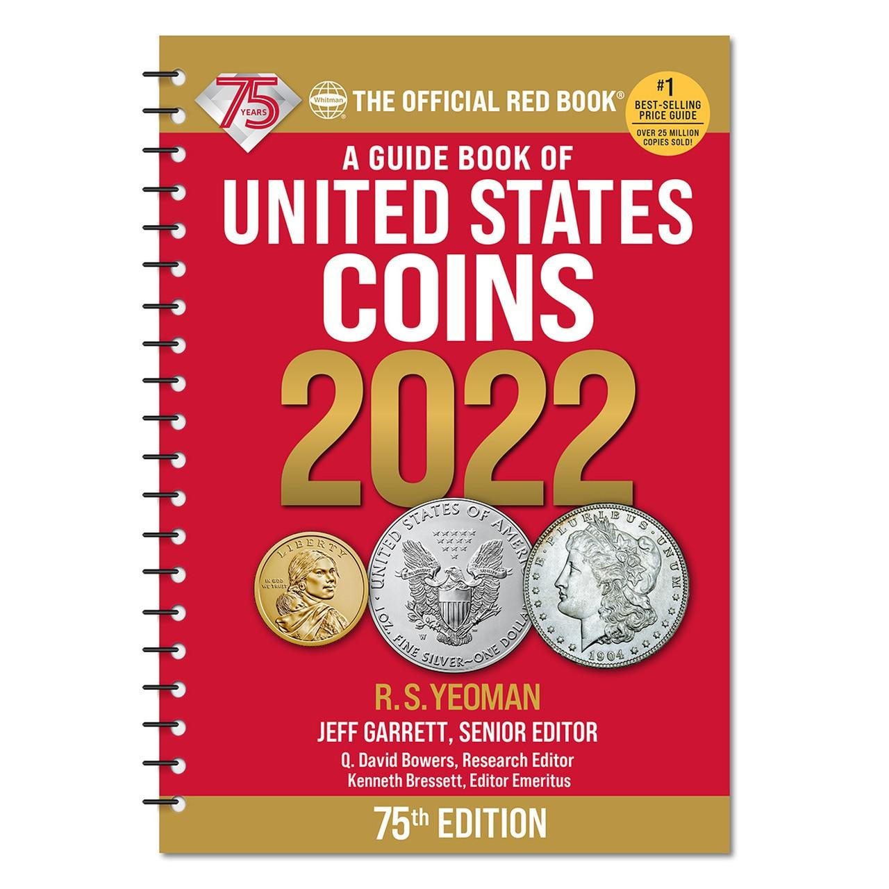 Whitman Red Book of United States Coins 2022- 75th Anniversary Edition  - Spiral