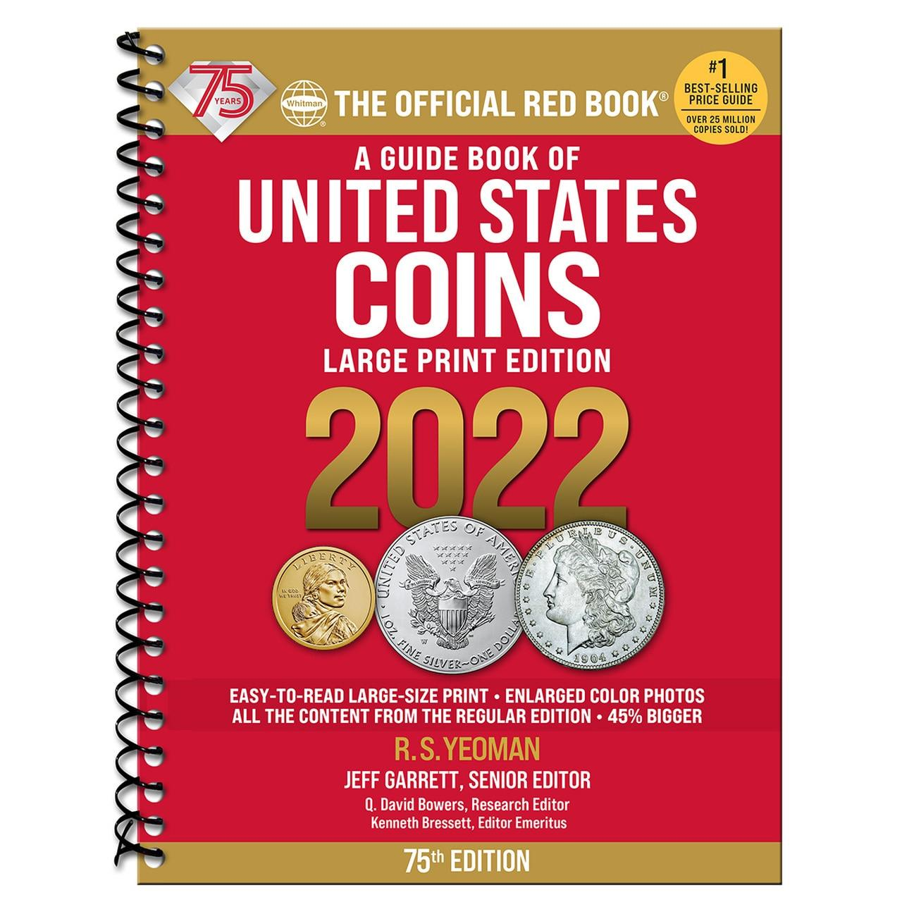 Whitman Red Book of United States Coins 2022 - 75th Anniversary Edition - Large Print
