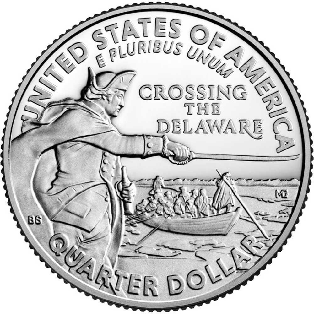 2021-S Washington Crossing the Delaware Quarter GEM PROOF