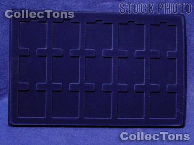 Lighthouse Velvet Coin Trays for 2x2 Holder TAB 15 Blue