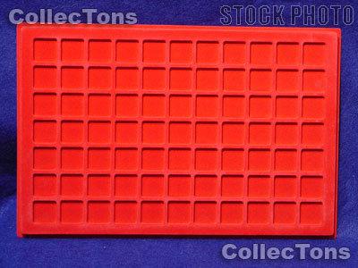 """Lighthouse Velvet Coin Trays 3/4"""" Holders TAB 77 Red"""
