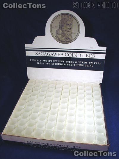100 Harris Round Polypropylene Coin Tubes SMALL DOLLARS