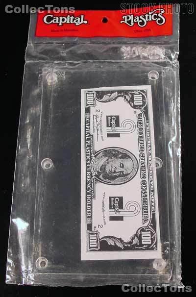 Capital Plastics Modern Currency Bill Holder