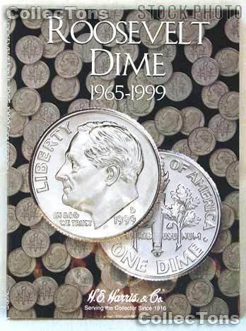 Harris Roosevelt Dimes 1965-1999 Coin Folder  2685