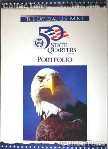 Official U.S. Mint 50 State Quarter Portfolio Map