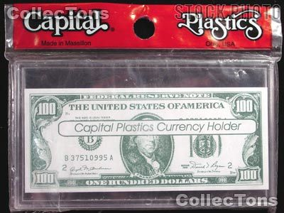 10 BCW LARGE US PAPER MONEY BILL CURRENCY SLAB ACRYLIC HOLDERS