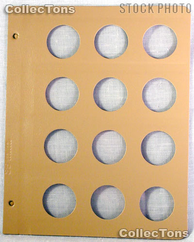 Dansco Blank Album Page for 35mm Coins