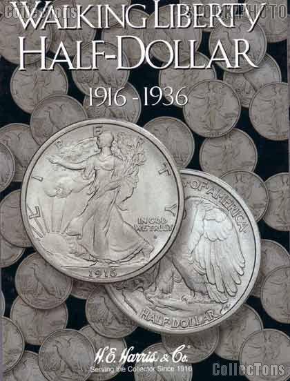 Harris Walking Liberty Halves 1916-36 Coin Folder  2693