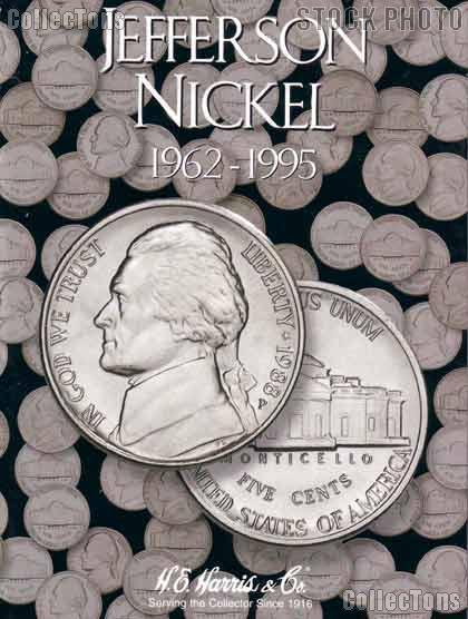 Harris Jefferson Nickels 1962-1995 Coin Folder  2680