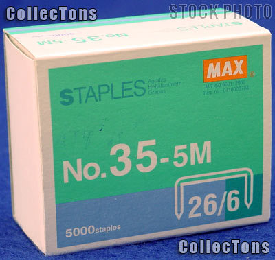 Flat Clinch Staples Standard Box of 5000 by MAX No.35