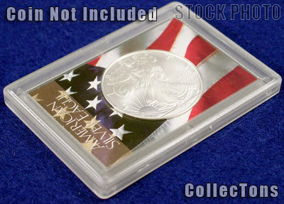 coin NOT included Snap Lock Coin Holder Small Dollar FREE Shipping