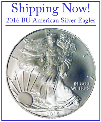 2016 BU American Silver Eagles - Shipping Now!
