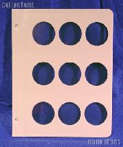 Dansco Blank Album Page for 43.25mm Coins