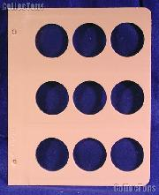Dansco Blank Album Page for 45mm Coins