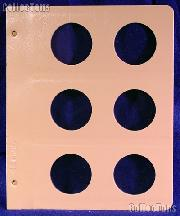 Dansco Blank Album Page for 48mm Coins