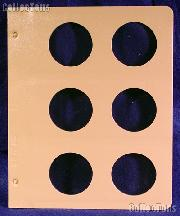 Dansco Blank Album Page for 50mm Coins