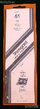 Showgard Strip Style Black Stamp Mounts Size 61