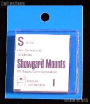 Showgard Pre-Cut Black Stamp Mounts Size S31/31