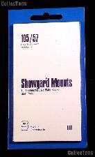 Showgard Pre-Cut Black Stamp Mounts Size 105/57