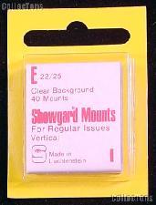 Showgard Pre-Cut Clear Stamp Mounts Size E22/25