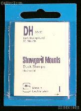 Showgard Pre-Cut Black Stamp Mounts Size DH52/36