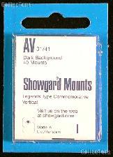 Showgard Pre-Cut Black Stamp Mounts Size AV31/41
