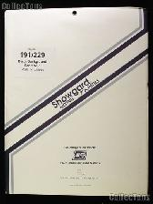 Showgard Pre-Cut Black Stamp Mounts Size 191/229