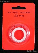 """Air-Tite Coin Capsule """"T"""" White Ring Coin Holder for 22mm Coins"""