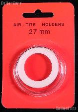 """Air-Tite Coin Capsule """"H"""" White Ring Coin Holder for 27mm Coins"""