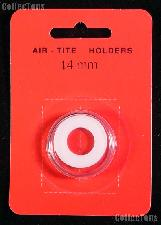 """Air-Tite Coin Capsule """"A"""" White Ring Coin Holder for 14mm Coins"""