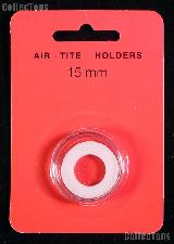 """Air-Tite Coin Capsule """"A"""" White Ring Coin Holder for 15mm Coins"""