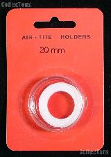 """Air-Tite Coin Capsule """"T"""" White Ring Coin Holder for 20mm Coins"""