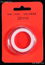 """Air-Tite Coin Capsule """"H"""" White Ring Coin Holder for 29mm Coins"""