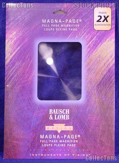 Bausch & Lomb Magna-Page 2X Full Page Magnifier