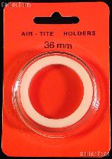 """Air-Tite Coin Capsule """"I"""" White Ring Coin Holder for 36mm Coins"""