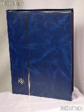 Stamp Stockbook 32-Black Page Stamp Album Lighthouse LS4/16 Blue