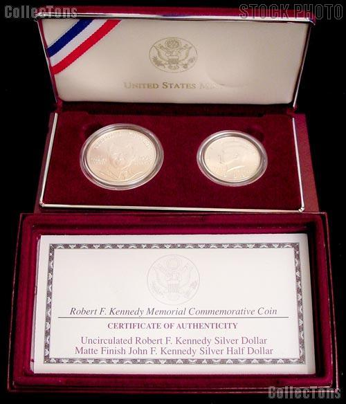 1998 S 2 Coin Kennedy Set With 1998 S Matte Half Dollar