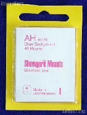 Showgard Pre-Cut Clear Stamp Mounts Size AH41/31