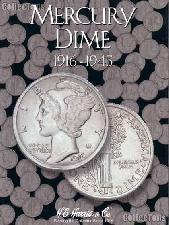 Harris Mercury Dimes 1916-1945 Coin Folder  2683
