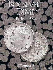 Harris Roosevelt Dimes 1946-1964 Coin Folder  2684