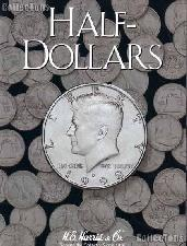 Harris Blank Coin Folder for Half Dollars  2698