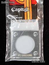 Capital Plastics 2x2 Holder -ST. GAUDENS GOLD in Black