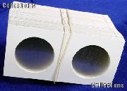 100 2.5x2.5 Cardboard Coin Holders SILVER EAGLE & CROWN