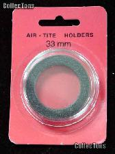 """Air-Tite Coin Capsule """"I"""" Black Ring Coin Holder for 33mm Coins"""