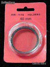 """Air-Tite Coin Capsule """"I"""" Black Ring Coin Holder 40mm Coins SILVER EAGLES"""