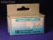 10 Lighthouse Coin Capsules for 24mm Coins US QUARTER
