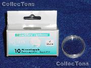 10 Lighthouse Coin Capsules for 26mm Coins 2 Euro