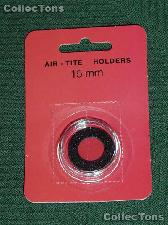 """Air-Tite Coin Capsule """"A"""" Black Ring Coin Holder for 15mm Coins"""