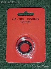 """Air-Tite Coin Capsule """"A"""" Black Ring Coin Holder for 17mm Coins"""