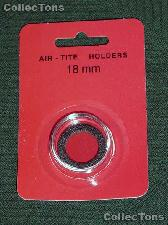"""Air-Tite Coin Capsule """"A"""" Black Ring Coin Holder for 18mm Coins DIMES"""